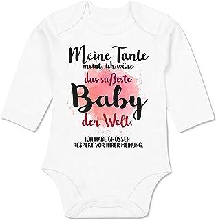 Shirtracer Strampler Motive - Meine Tante Meint, ich wäre das süßeste Baby der Welt. - Baby Body Langarm