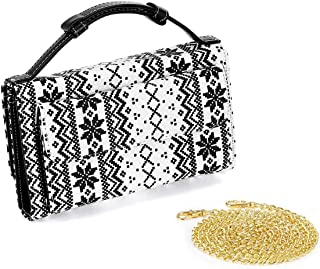 LVANA Damen Handtasche/Brieftasche aus Segeltuch mit Schulterriemen und Kartenfach