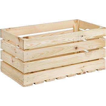 35 litros Caja de madera caja de madera 50 x 27 cm Material 1 cm Vino Caja: Amazon.es: Hogar