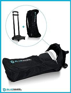 Bolsa de Transporte de Hoverboard - Bluewheel CASE6.5/CASE10 - Trolley con 2 Ruedas, 2 almohadones para la Espalda, asa retráctil y Malla - Repelente al Agua y Duradero - para 6,5 o 10 Pulgadas
