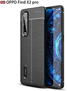 For OPPO Find X2 Pro Litchi Texture TPU Shockproof Case Good (Black) Sunsshine (Color : Black)