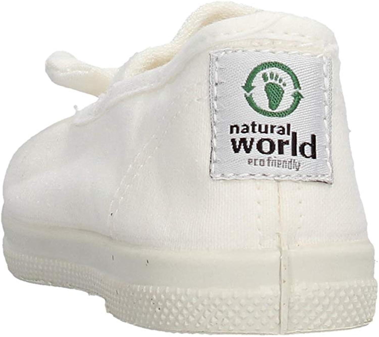 Natural World Baumwoll Ballerina mit Schleife Basis in Caoutchouc 473505 Weiss