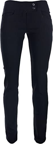 Miss Chief Girls School Trousers Skinny Stretch Hipster Straight Leg 25 27 29 31 33 35 Black