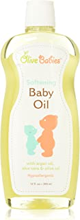 Baby Oil Multi Purpose with Argan Oil, Aloe Vera & Olive Oil 12 oz - Softening Hypoallergenic Solution for All Skin Types ...