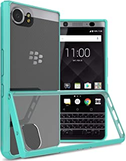 BlackBerry KEYone Case Cover, CoverON, Clear Back Panel, Teal Bumper