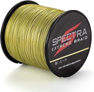 Hilo trenzado para pescar Extreme Braid de Spectra, resiste de 2,7 a 136 kg, de 100a 2000m, color verde militar