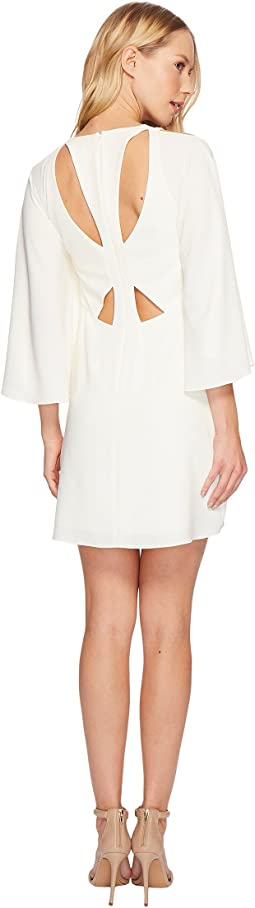 Halston Heritage - Bell Sleeve Shift Dress w/ Cut Outs