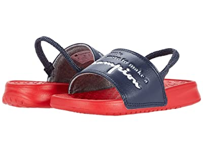 Champion Kids Super Slide More (Toddler) (Navy/Scarlet) Kid