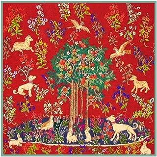 Medieval Tree Animals Detail Lady Unicorn Counted Cross Stitch Pattern