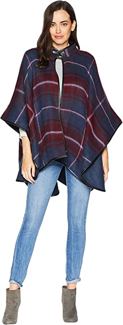 Windowpane Plaid Cape