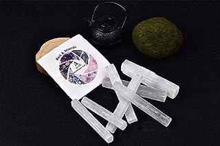 "0.55LB Selenite Sticks Bulk 4"" Long (Approx.6-8 pcs) Selenite Crystal Wands for Healing, Reiki, Chakra, Good Vibes, Protec..."