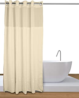Curtain Express Premium Hookless Shower With Liner Magnet To Prevent Creep