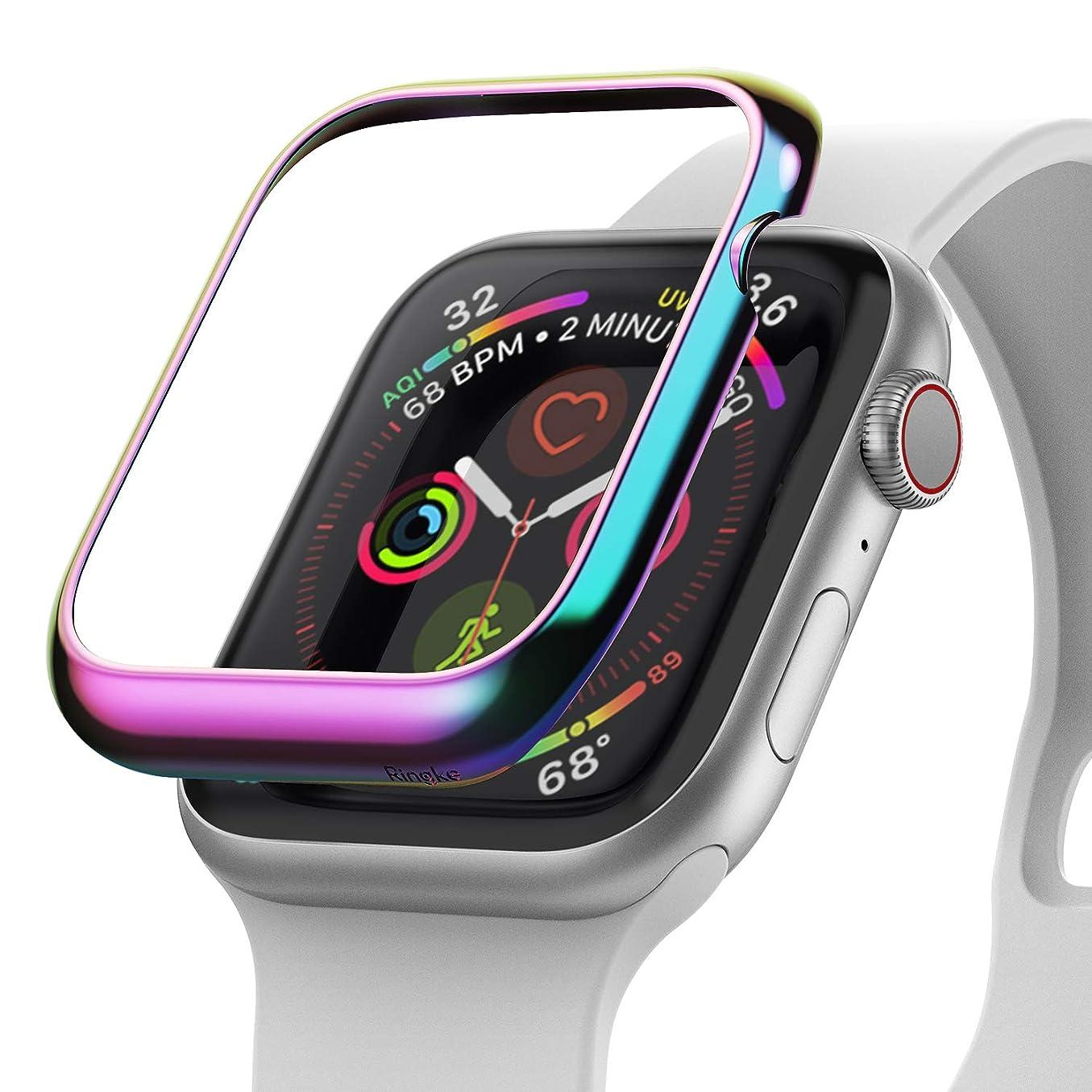 【Ringke】Apple Watch 44mm ケース コスパ最高 衝撃吸収 アップルウォッチ シリーズ 4 Apple Watch series 4 ケース (2018) [Apple Bezel Styling] AW4-08 (Multi-Colored)