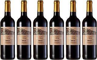 Collines Antiques - Vino merlot, IGP Pays d'Oc, añada 2018, (6 botellas de 750 ml)