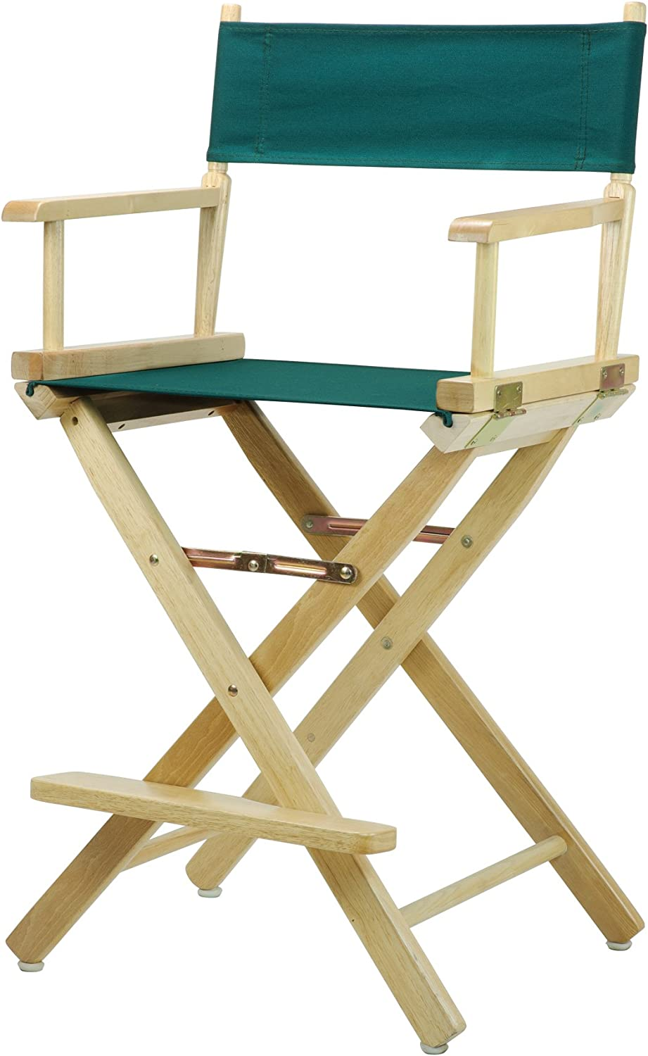 Casual Home 24-Inch Director Chair Natural Frame, Hunter Green Canvas