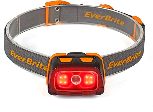 high quality EverBrite Headlamp - 300 Lumens Headlight with Red/Green 2021 Light and Tail Light, 7 Lighting Modes, Perfect for Trail Running, Camping, Hiking and More, Adjustable Headband, 2021 3 AAA Batteries Included sale
