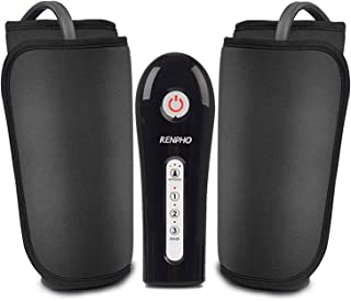 RENPHO Rechargeable Leg Massager for Circulation, Calf Massager Machine with PU Leather, Over Size Wrap Boots for Leg, Foot, Calf, Thigh, Muscles Pain Relief, Home Use, Gift for Dad