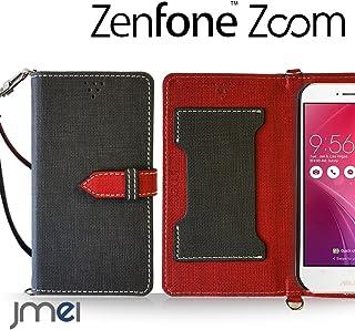 Zenfone Zoom ZX551ML カバー jmeiオリジナルカルネカバー VESTA ブラック ASUS ゼンフォン ズーム simフリー スマホケース 手帳型 ショルダー スリム スマートフォン ケース