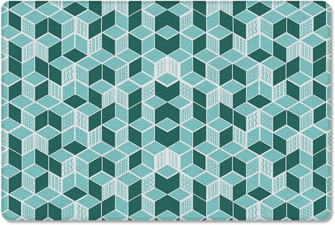 爆買いセール Gsypo Cushioned Anti Fatigue Kitchen Cube Patte 大注目 Teal Mat Square
