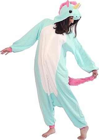 Sazac Unicornio Azul - Todo en un Disfraz para Adultos ...