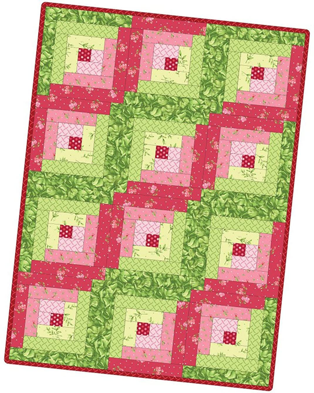 Sweet Pea Flannel Log Cabin Pod Quilt Kit Maywood Studio