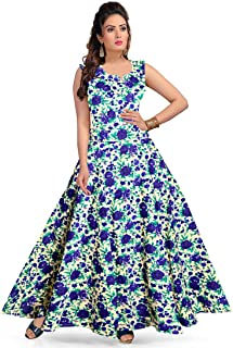 Trendy Fab Women's Cotton Maxi Dress, Gown (Multi Color)