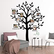 Large Family Tree Branch Photo Frames Wall Decals Quotes Stickers for Living Room Home Decor Art,69x83in
