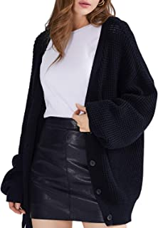 Women's Cardigan Sweater 100% Cotton Button-Down Oversized Cardigans Knit