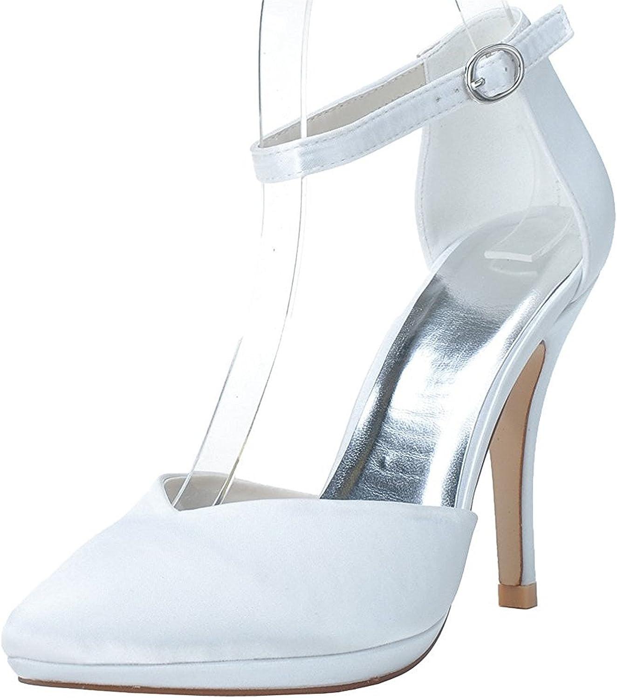 Verescha robe en satin cheville cheville cheville avec talons hauts plateforme de mariage skor  säljer bra över hela världen