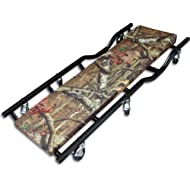 "Torin Big Red Rolling Garage/Shop Creeper: 40"" Padded Mechanic Cart, Mossy Oak Camo"