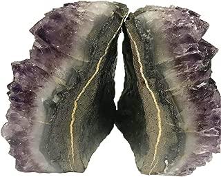 amethyst geode pair