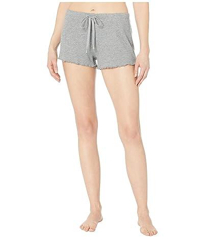 P.J. Salvage Texture Lounge Sleep Shorts (Heather Grey) Women