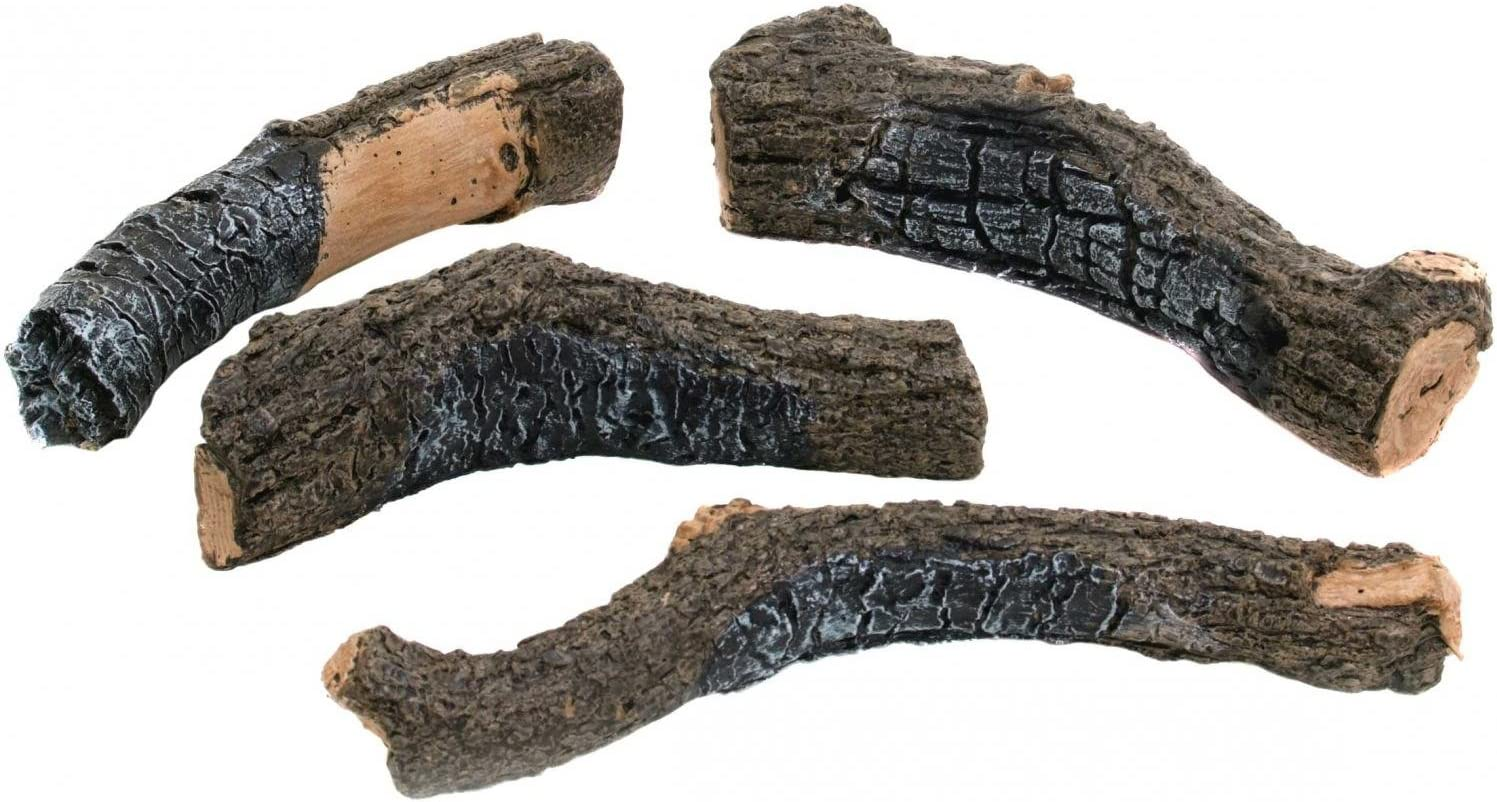 Peterson Gas Max 53% OFF Logs NEW before selling ☆ Decorative Charred Set Branches Of 4