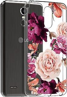 BAISRKE LG Stylo 3 Case, LG Stylo 3 Plus Case, LG Stylus 3 Case with Flowers Slim..