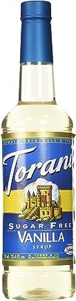 Torani Vanilla Syrup, Sugar Free, 25.4 Fl Oz