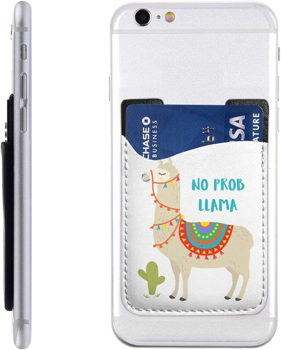 Indefinitely Cute Cartoon Llama Cactus Phone Stick Card Cell On Cheap Holder