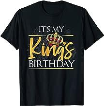 It's My King's Birthday T-Shirt Husband & Boyfriend Birthday