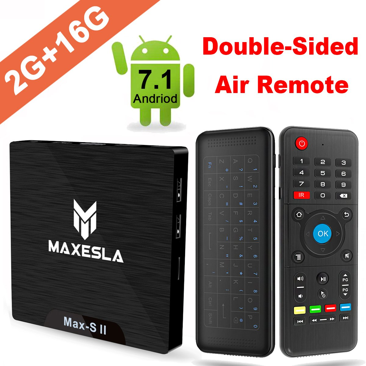 Smart TV BOX Android 7.1 - Maxesla MAX-S II Mini TV Box de 2GB RAM +