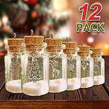 ORIENTAL CHERRY Christmas Ornaments - Set of 12 DIY Xmas Miniature Charm Glass Bottle - 2019 Home White Navidad Holiday Tree Decorations