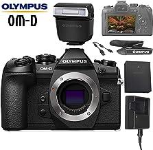 Olympus OM-D E-M1 Mark II Mirrorless Micro Four Thirds Digital Camera (Black, Body Only) with Olympus FL-LM3 Flash, Olympu...