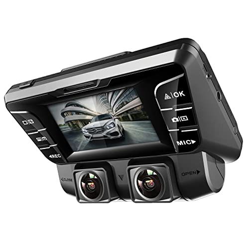 Pruveeo C2 Dual Dash Cam 1920x1080P Front and Rear Car Dashboard Camera with Sony Sensor,