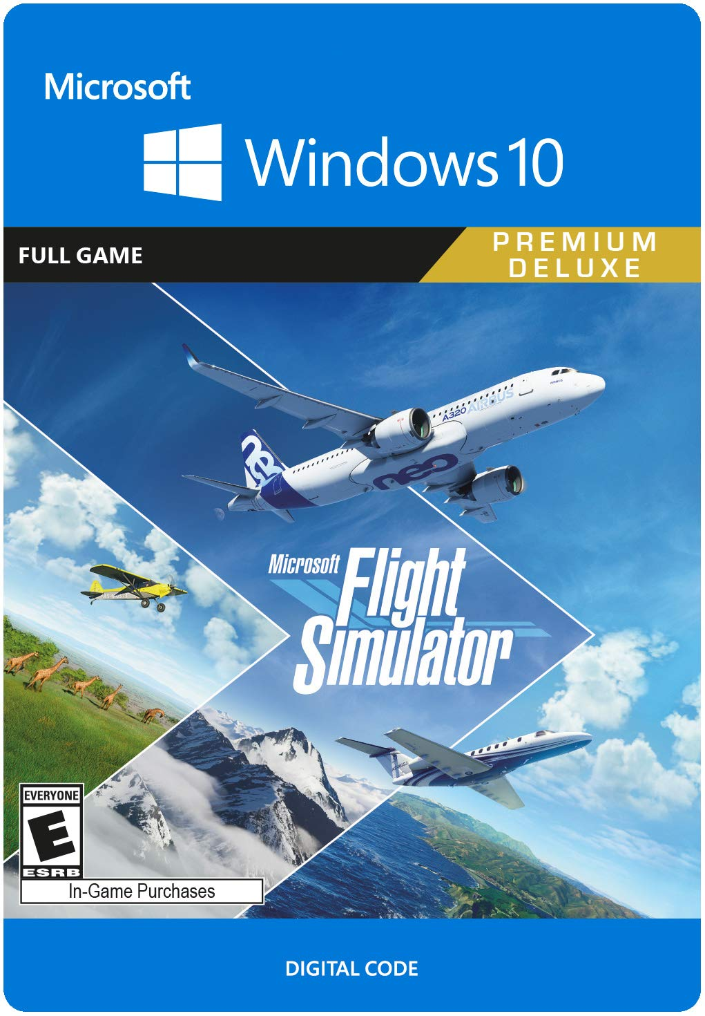 Microsoft Flight Simulator Premium Deluxe Edition - PC [Online Game Code]