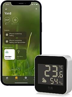 Estación meteorológica inteligente con tecnología Apple HomeKit para registrar temperatura, humedad y presión atmosférica,...