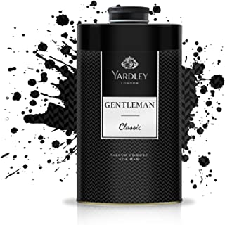 Yardley Gentleman Classic Perfumed Talcum Body Powder , Fresh and scented all-day, 150 gm