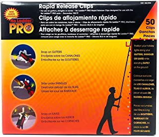 Pro No Ladder Rapid Release 50 Holiday Lights Gutter Clips