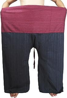 "Lovely Plus Fisherman Wrap Pants Plus Size Mens Womens Casual Yoga Pants Waist 77"" with Pocket"