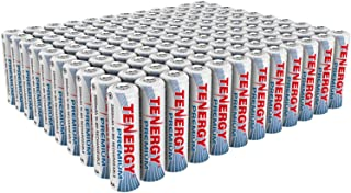 Tenergy Premium Rechargeable AA Batteries, High Capacity 2500mAh NiMH AA Battery, AA Cell Battery, 120-Pack