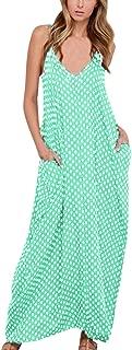 StyleDome Women Dresses Summer Sexy Casual Loose Sleeveless V Neck Party Long Boho Maxi Dresses Sundresses Plus Size