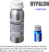 Marine Grade 250ml Glue + 30ml Hardener 2 Parts Adhesive Kit for Inflatable Boats, Sealed in Aluminum Bottles. PVC or Hypalon Version Available