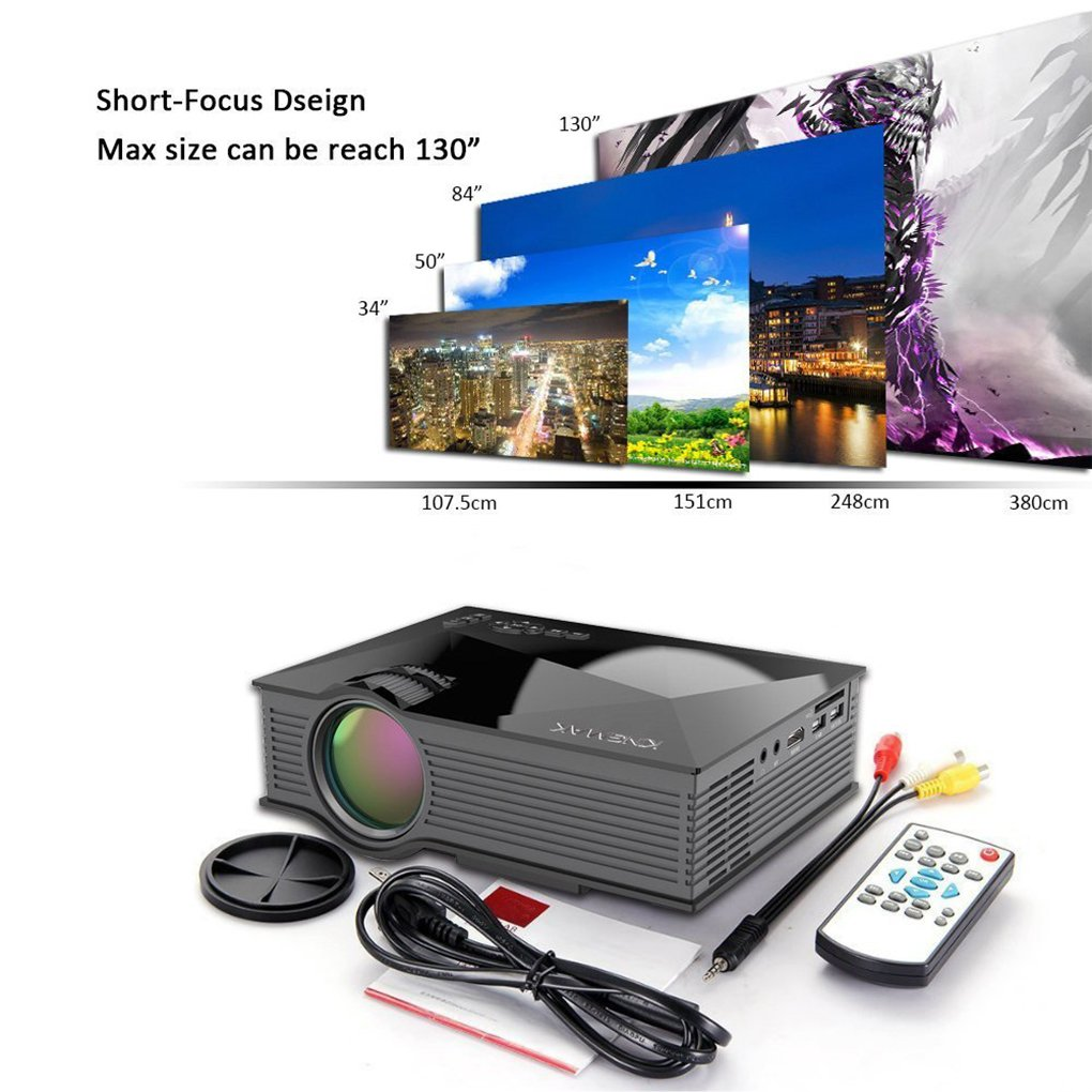 topker Unic uc46 Multimedia Mini proyector LED HD 1080P con ...